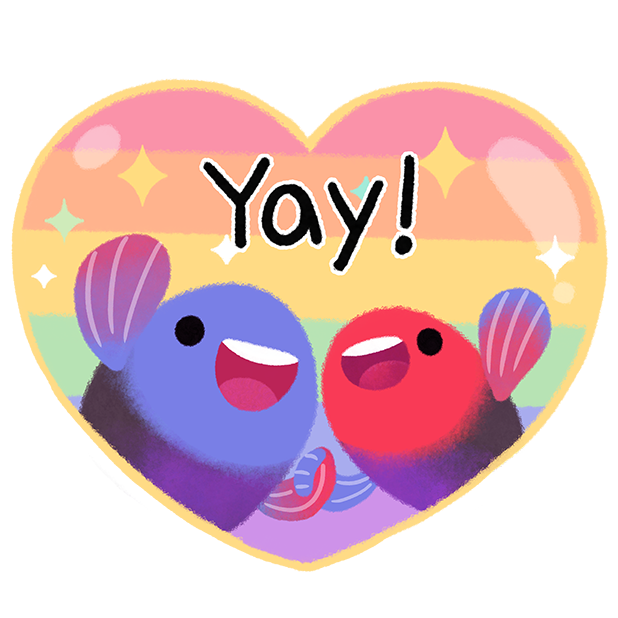 Rainbow guppy messages sticker-9
