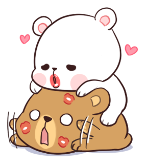 Official Milk and Mocha Bear messages sticker-4