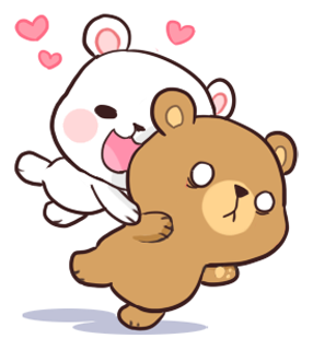 Official Milk and Mocha Bear messages sticker-2