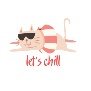 Cat Relaxing Sticker messages sticker-6