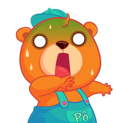 Gấu Pô Sticker messages sticker-6