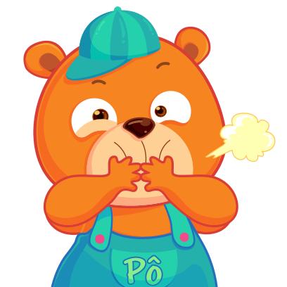 Gấu Pô Sticker messages sticker-0
