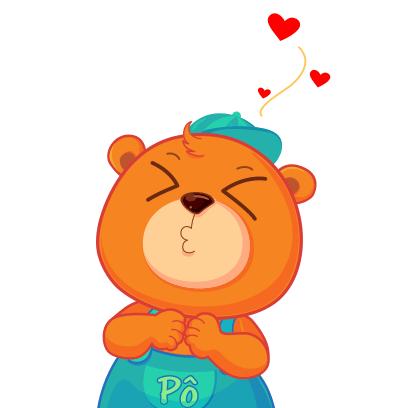Gấu Pô Sticker messages sticker-2