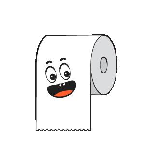 Toilet Paper Feeling Sticker messages sticker-1