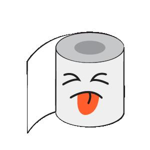 Toilet Paper Feeling Sticker messages sticker-7