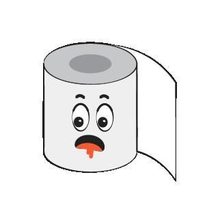 Toilet Paper Feeling Sticker messages sticker-5