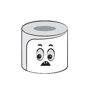 Toilet Paper Feeling Sticker messages sticker-3