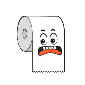 Toilet Paper Feeling Sticker messages sticker-6