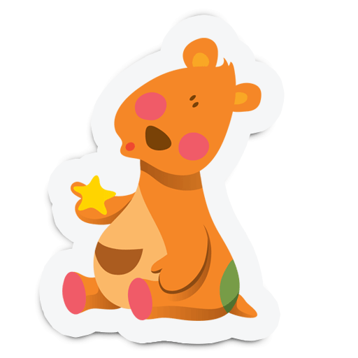 Cute Animal Stickers for Kids messages sticker-3