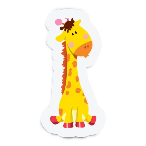 Cute Animal Stickers for Kids messages sticker-2