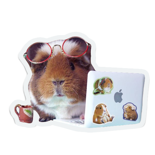 cute furry animal friends messages sticker-0
