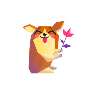 Dog Single Feeling Sticker messages sticker-5