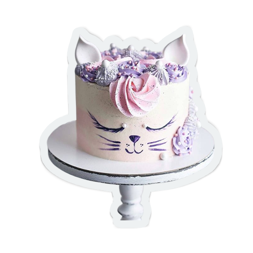 cute birthday cakes messages sticker-7