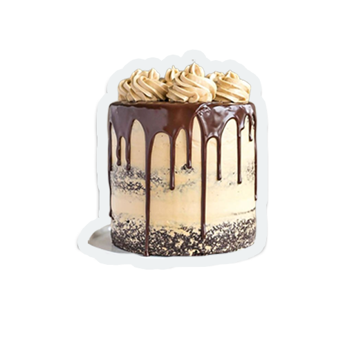 cute birthday cakes messages sticker-1