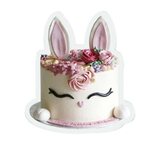 cute birthday cakes messages sticker-4