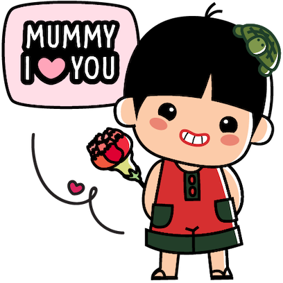 Ang Ku Kueh Girl - Love Mum messages sticker-9
