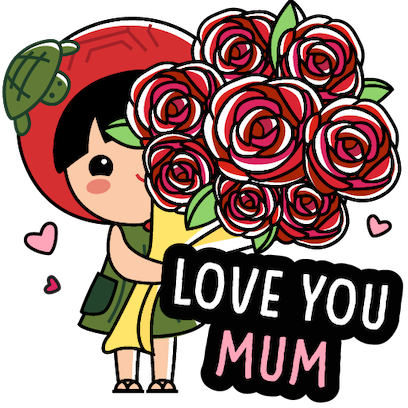 Ang Ku Kueh Girl - Love Mum messages sticker-0