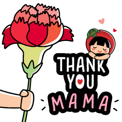 Ang Ku Kueh Girl - Love Mum messages sticker-1