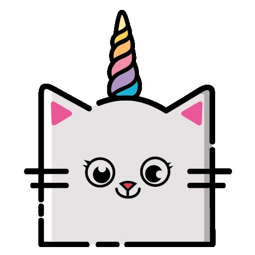 KittyCorn Emoji messages sticker-6