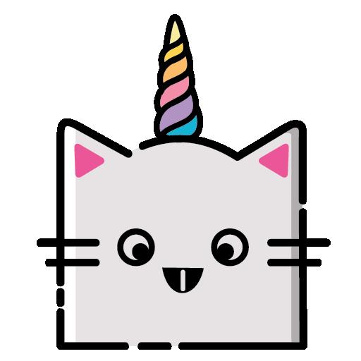 KittyCorn Emoji messages sticker-11