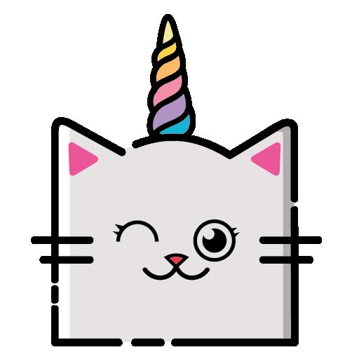 KittyCorn Emoji messages sticker-1