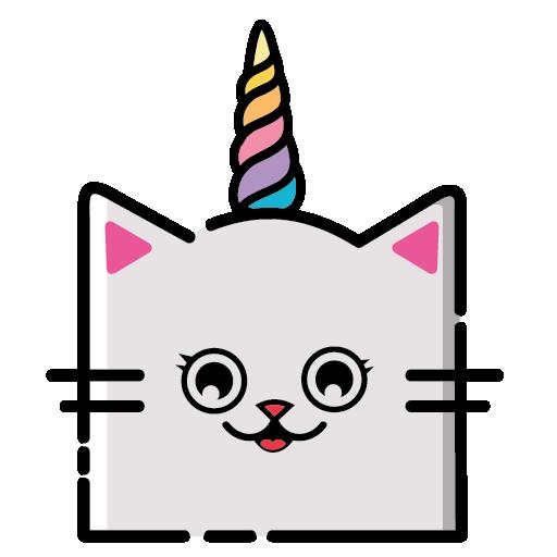 KittyCorn Emoji messages sticker-9