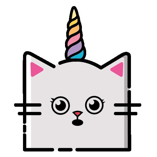 KittyCorn Emoji messages sticker-3