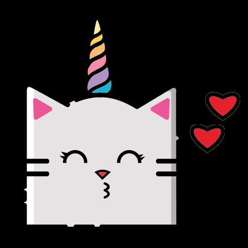 KittyCorn Emoji messages sticker-8
