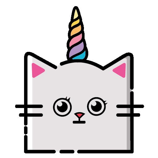 KittyCorn Emoji messages sticker-4