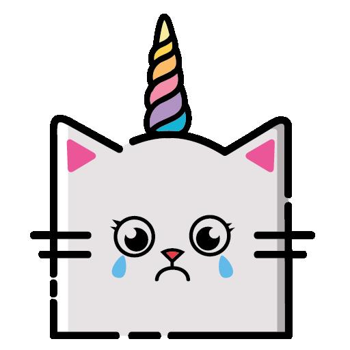 KittyCorn Emoji messages sticker-5