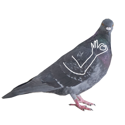 Pigeon With Hands messages sticker-8