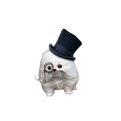 animals wearing monocles messages sticker-4