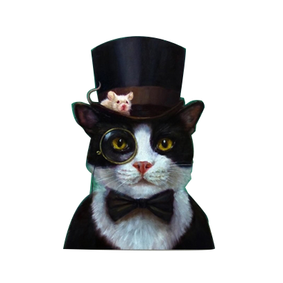 animals wearing monocles messages sticker-10