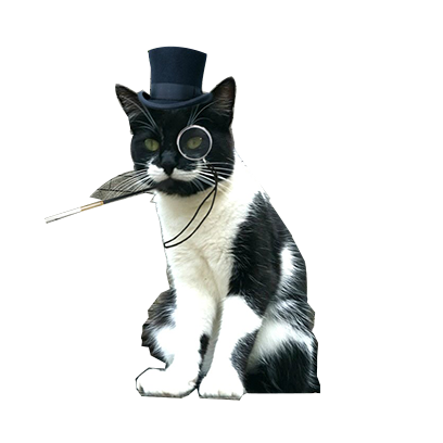 animals wearing monocles messages sticker-5