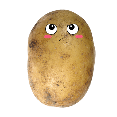 Po-Face!: Kawaii Potato Emoji messages sticker-7