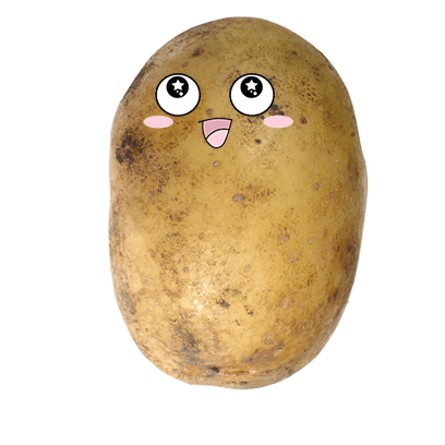 Po-Face!: Kawaii Potato Emoji messages sticker-4