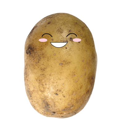 Po-Face!: Kawaii Potato Emoji messages sticker-9