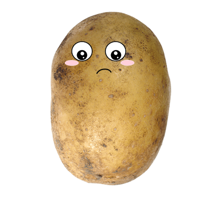 Po-Face!: Kawaii Potato Emoji messages sticker-3