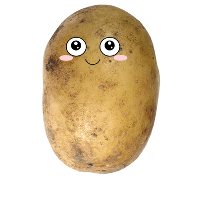 Po-Face!: Kawaii Potato Emoji messages sticker-0