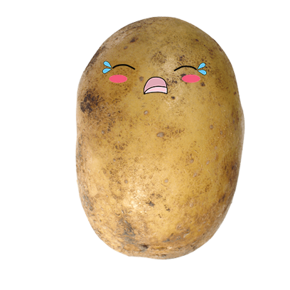 Po-Face!: Kawaii Potato Emoji messages sticker-5