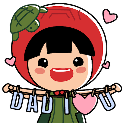 Ang Ku Kueh Girl - Love Dad messages sticker-0