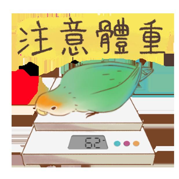 小可愛搞怪鳥家族 messages sticker-3