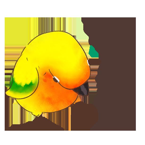 小可愛搞怪鳥家族 messages sticker-1