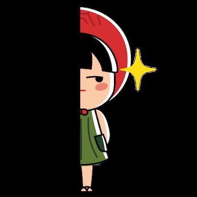 Ang Ku Kueh Girl - Pack 4 messages sticker-9