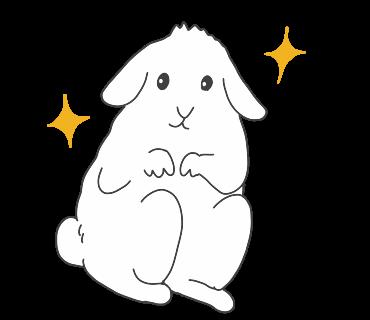 fluffy-white-friends messages sticker-4