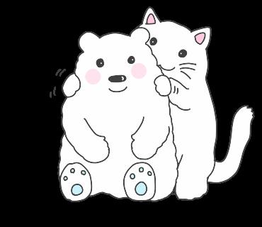 fluffy-white-friends messages sticker-5