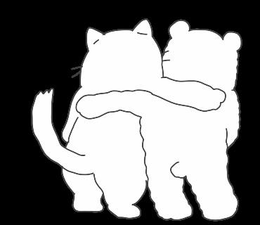 fluffy-white-friends messages sticker-1