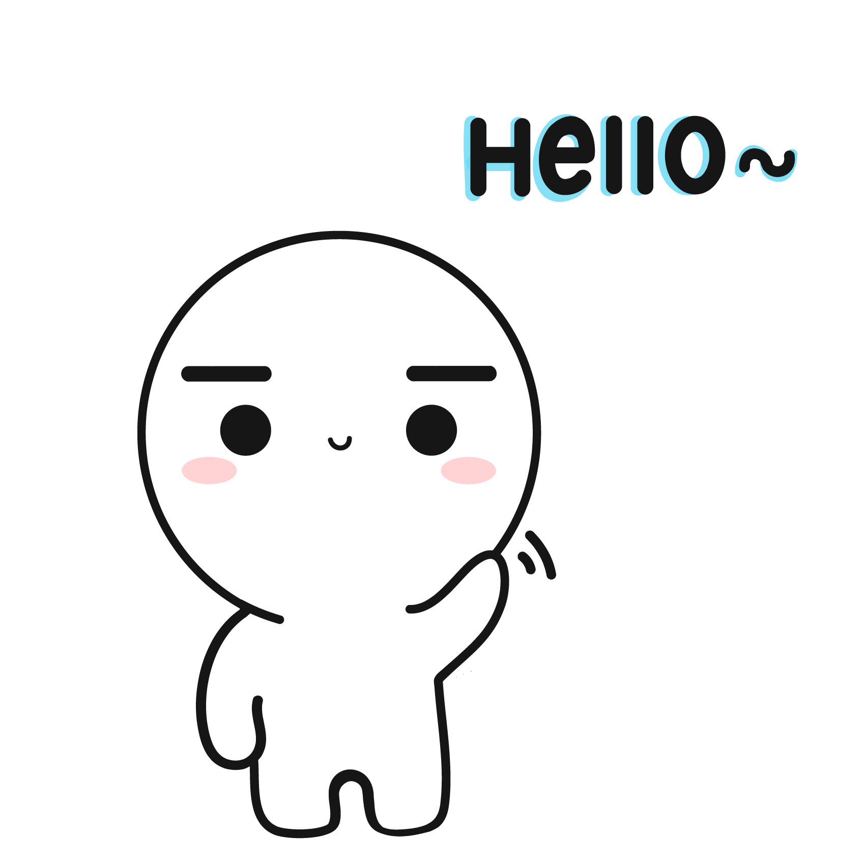 Hooman Welcome Sticker Pack messages sticker-4