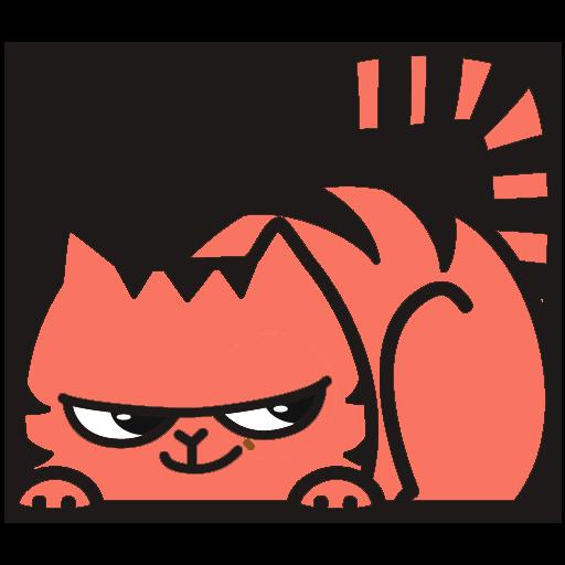 Red Pu The Amazing Cat Sticker messages sticker-4