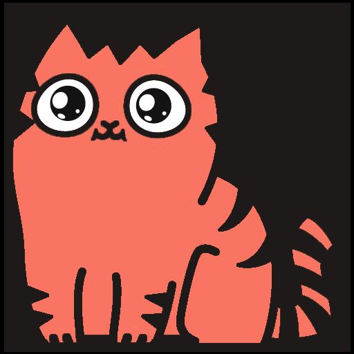 Red Pu The Amazing Cat Sticker messages sticker-7
